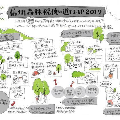 長野県森林税を勝手にイラストマップにしてみた。